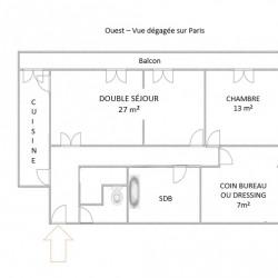 Appartement Paris 3 pièce (s) 76 m²