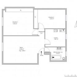 Suresnes 3 pièces 66,7 m²