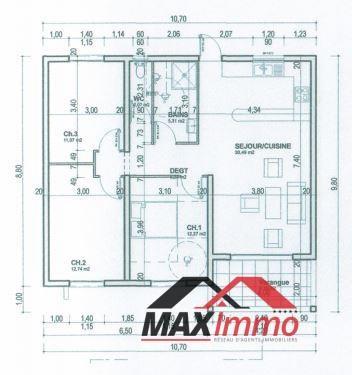 Maison ste suzanne - 4 pièce (s) - 92 m²