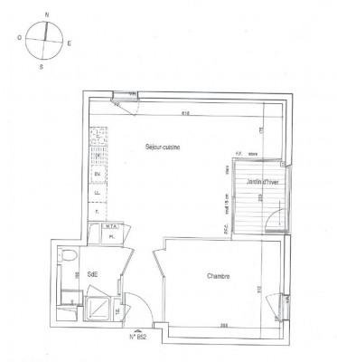 A LOUER: Appartement Nantes 2 pièces - 41.40 m²