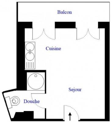 2 Pièces Balcons - 23m²