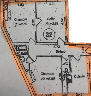 Appartement Paris 3 pièce (s) 66.3 m²