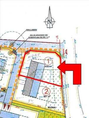 Terrain viabilisé savenay - 450 m²