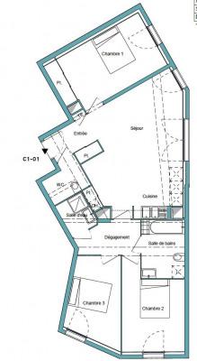 Appartement 4 pièces avec parkings