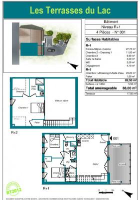 Appartement Biganos 4 pièces 82.50 m²