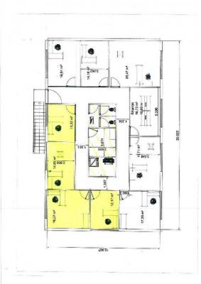 4 bureaux meublés + local 60m² + terrain de 1000m²
