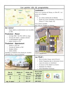 Proche LA ROCHELLE appartement T2 programme neuf, 44 m² - La Rochelle (17000)