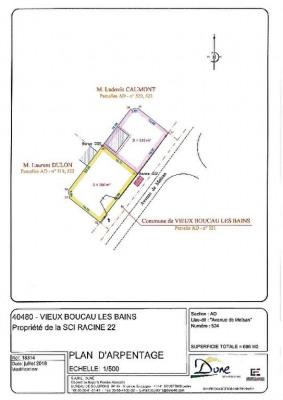 Terrain Vieux Boucau Les Bains 380 m²
