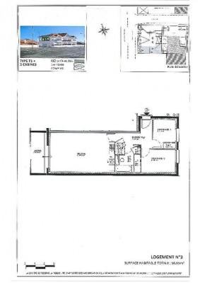 Apt 3 pièce (s) 56.76 m²
