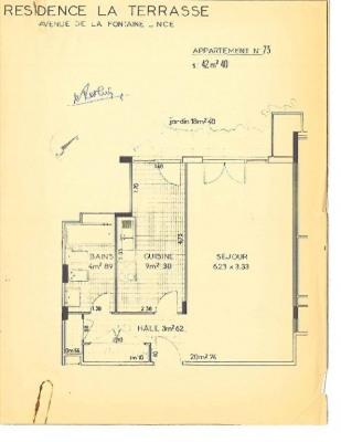 Appartement F1 42.40 m² sur Chambrun