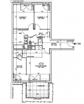 Appartement 3 pièces + balcon 8,64m² - 92600 ASNIÈRES SUR SEINE