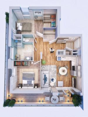 Appartement Bourgoin Jallieu 2 pièce(s) 48.92 m2
