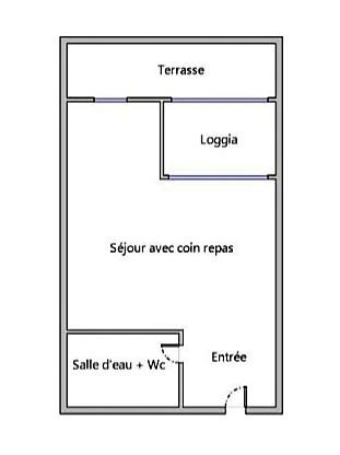 Vente appartement Le cap d'agde 50000€ - Photo 1