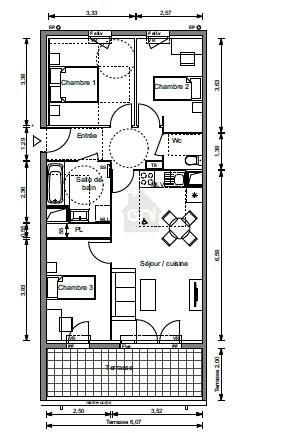 Vente appartement Marseille 15ème 224000€ - Photo 3