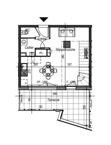 Appartement Saint Gilles Croix De Vie 3 pièce(s) 66.77 m2