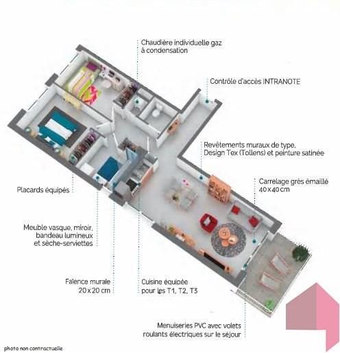 Venta  apartamento Castanet-tolosan 139000€ - Fotografía 2