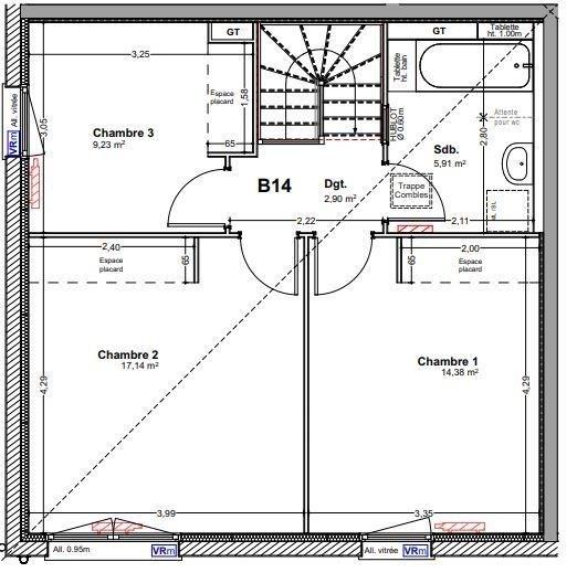 Venta  apartamento Vougy 250500€ - Fotografía 3