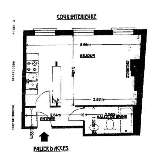 Vente appartement Paris 3ème 375000€ - Photo 6