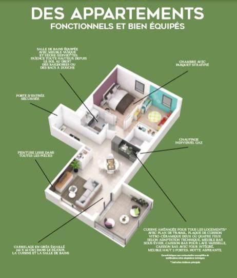 Vente appartement Neuville sur saone 273000€ - Photo 3