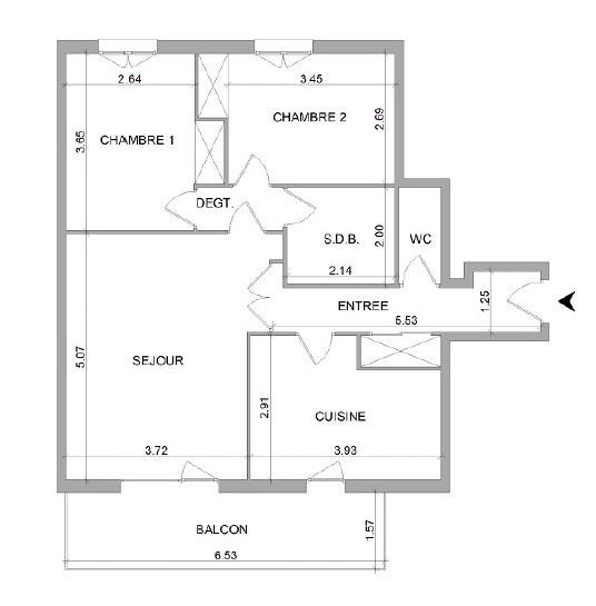 Location appartement Villefranche sur saone 648,92€ CC - Photo 7