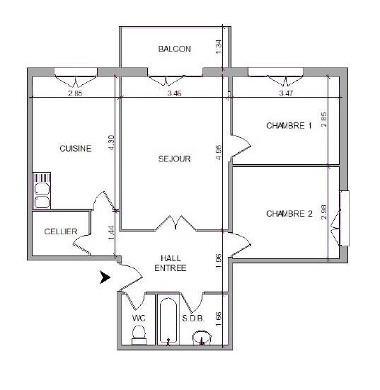 Location appartement Villefranche sur saone 645,67€ CC - Photo 7