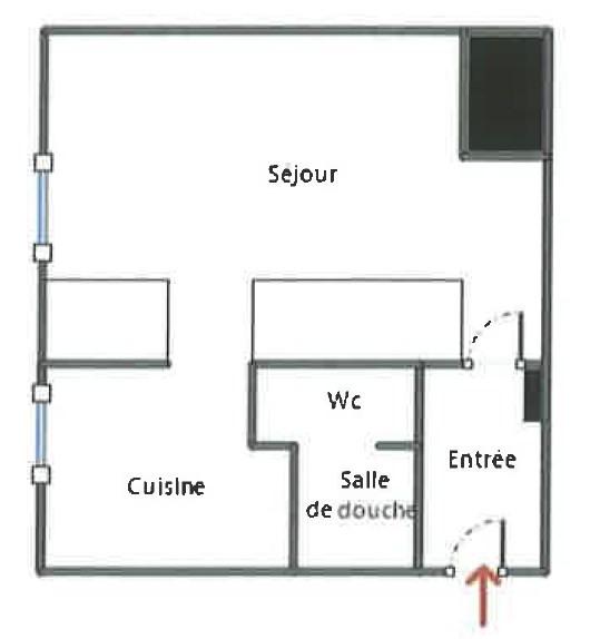 Alquiler  apartamento Bagnolet 584€ CC - Fotografía 3