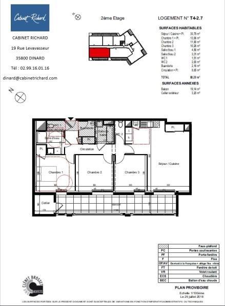 Revenda apartamento St malo 301000€ - Fotografia 1