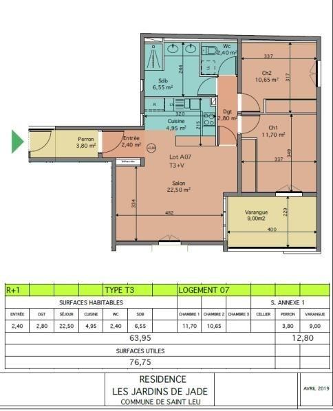 Sale apartment St leu 353050€ - Picture 3