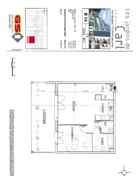 Location appartement Aix les bains 660€ CC - Photo 1