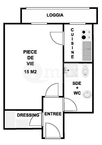 Sale apartment Levallois perret 255000€ - Picture 1