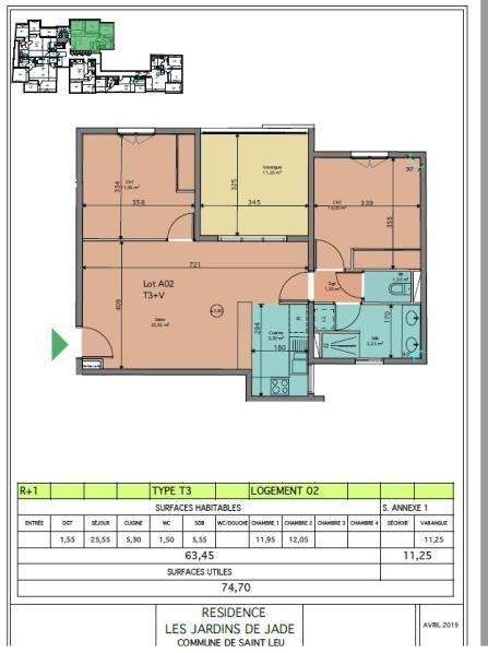 Sale apartment St leu 342930€ - Picture 3