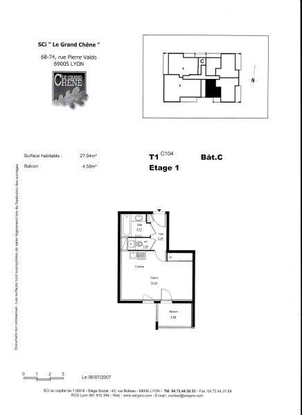 Locação apartamento Lyon 5ème 670€ CC - Fotografia 4