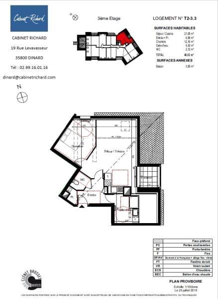 APPARTEMENT ST MALO - 2 pièce(s) - 48.62 m2