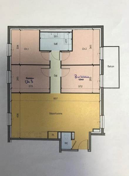 Venta  apartamento Tours 321000€ - Fotografía 2