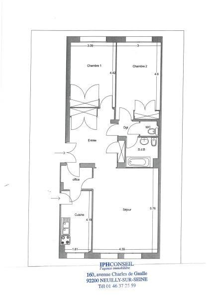 Vente de prestige appartement Neuilly sur seine 1040000€ - Photo 3