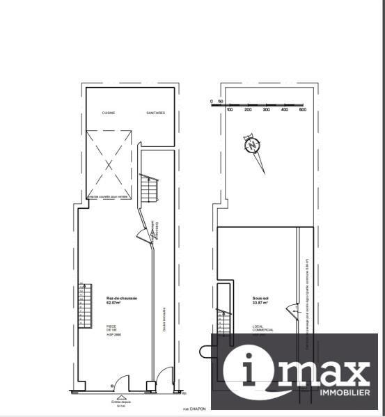 Rental empty room/storage Paris 3ème 3500€ HT/HC - Picture 6