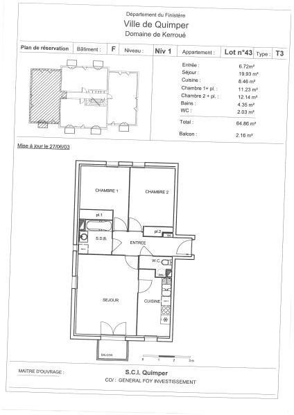 Sale apartment Quimper 97200€ - Picture 2