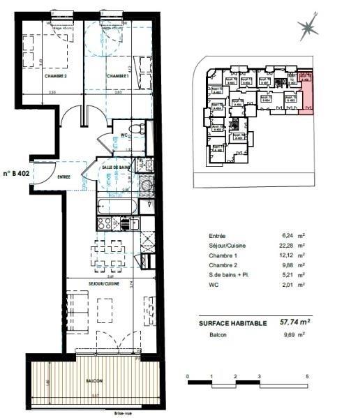 Vente appartement Castanet tolosan 258500€ - Photo 7