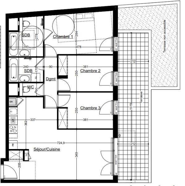 Sale apartment Annemasse 360000€ - Picture 2