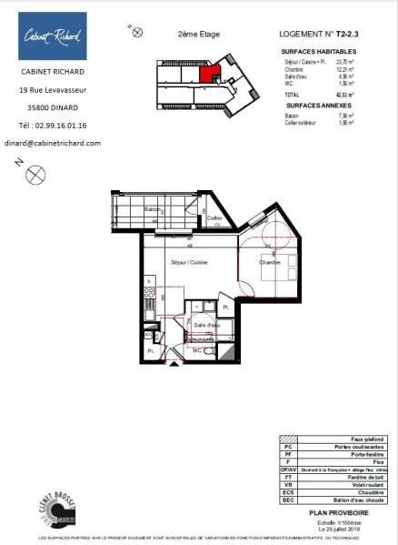 APPARTEMENT ST MALO - 2 pièce(s) - 42.02 m2