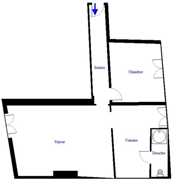 Sale apartment Paris 18ème 378000€ - Picture 2