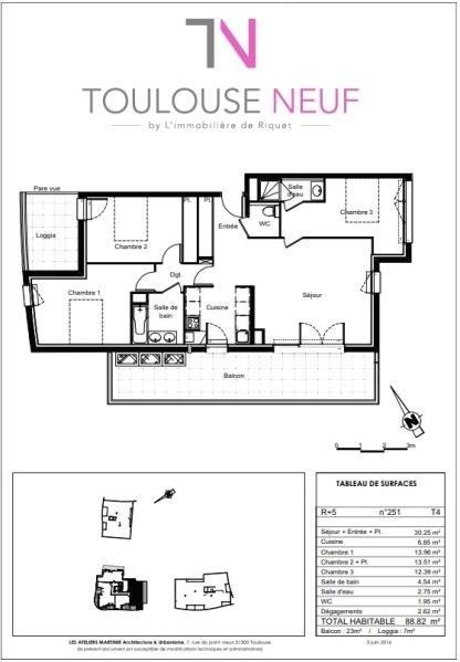 Vente appartement Colomiers 277000€ - Photo 10