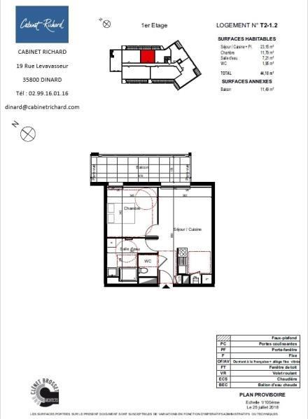 APPARTEMENT ST MALO - 2 pièce(s) - 44.1 m2