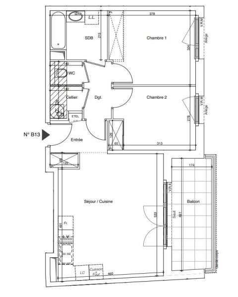 Venta  apartamento Annemasse 241771€ - Fotografía 2