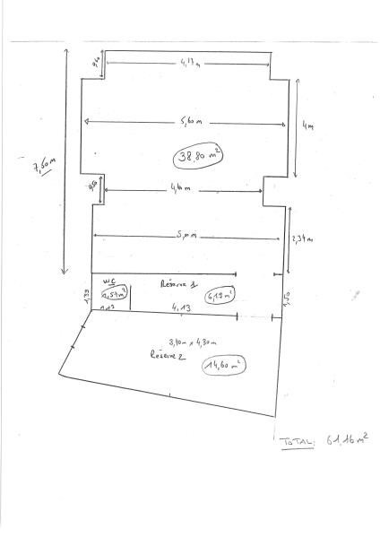 Rental empty room/storage Le raincy 1200€ HT/HC - Picture 2