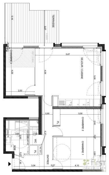Venta  apartamento Annemasse 356500€ - Fotografía 2