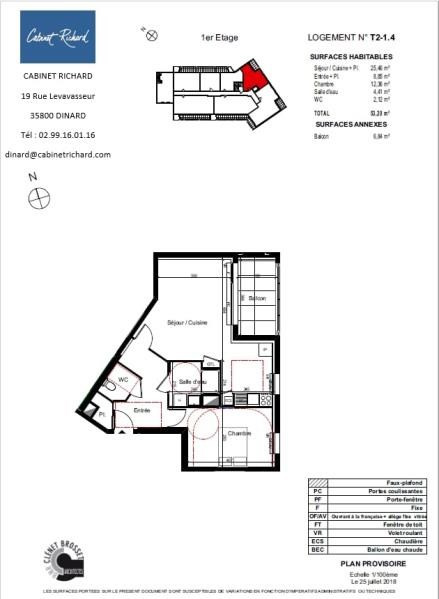 APPARTEMENT ST MALO - 2 pièce(s) - 53.2 m2