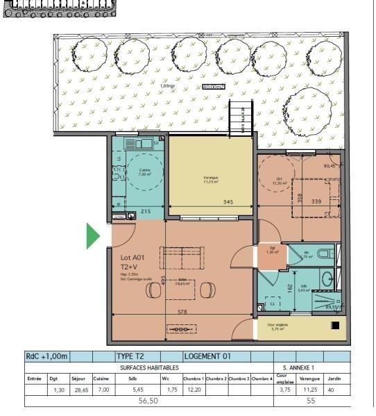 Sale apartment St leu 304520€ - Picture 3
