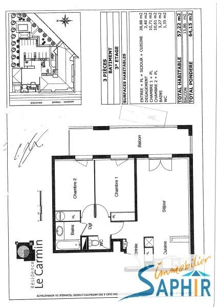 Vente appartement Toulouse 148 400€ - Photo 2