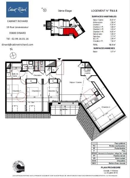 Vente appartement St malo 359000€ - Photo 1